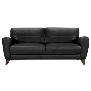 Brayden Studio Caloundra Contemporary Leather Sofa