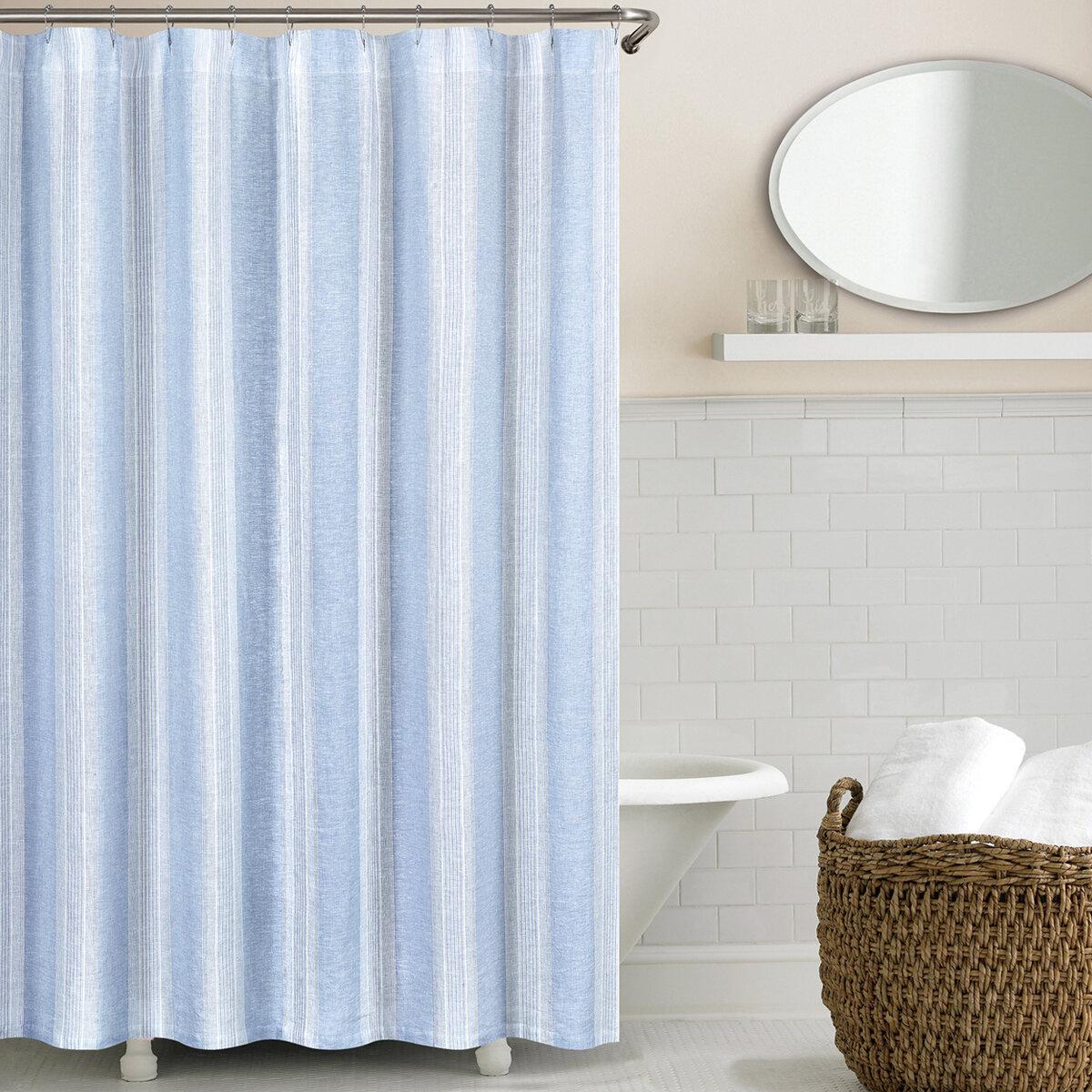 Blue Linen Shower Curtains You Ll Love In 2019 Wayfair