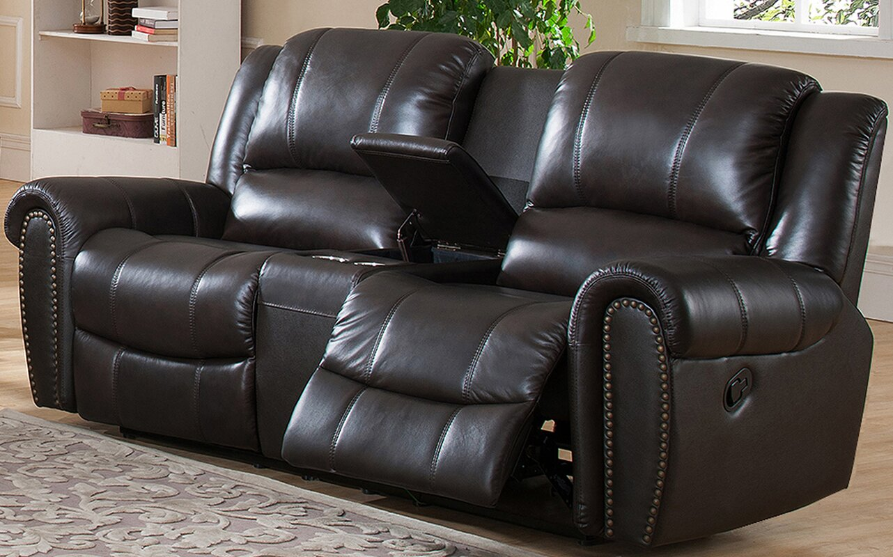 Charlotte Leather Reclining Sofa Part 56