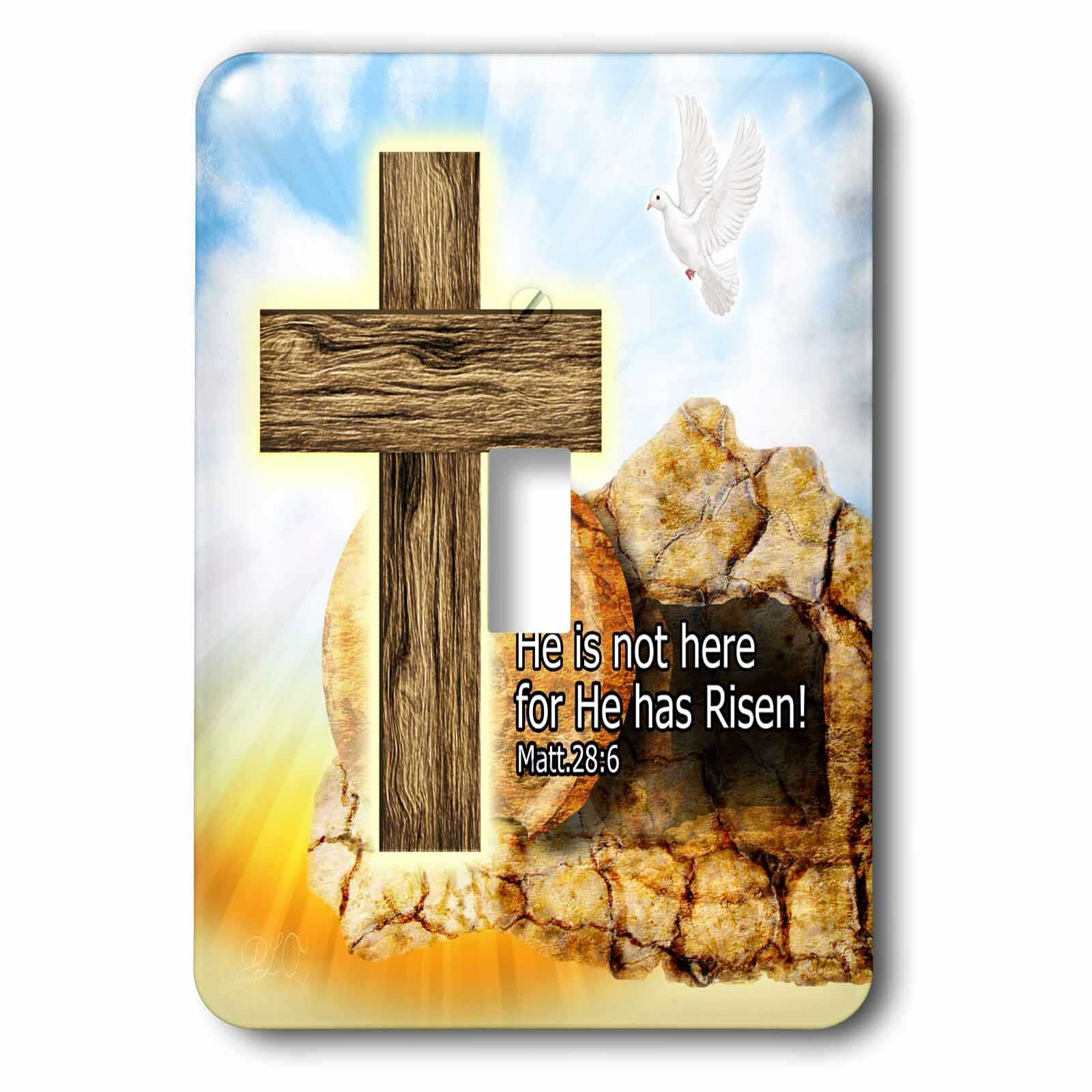3drose Easter Cross Of Jesus 1 Gang Toggle Light Switch Wall Plate Wayfair