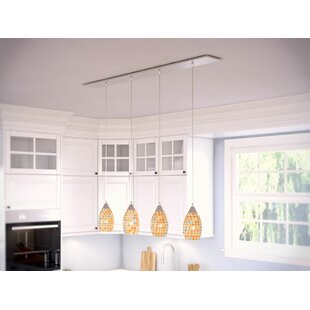 Beachcrest Home Roehampton 4-Light Kitchen Island Pendant
