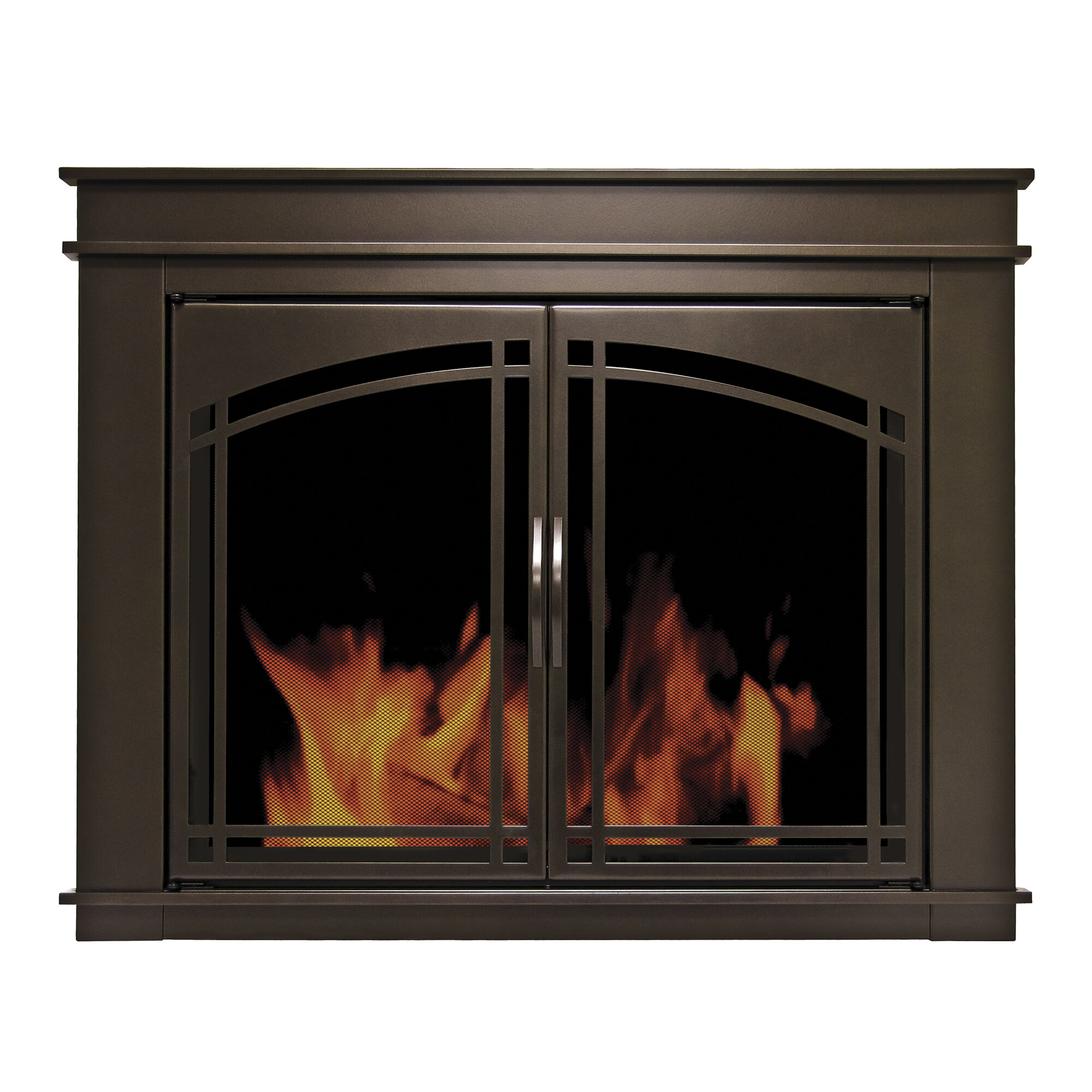 photos screen iron fireplace fayette furniture bronze decorative
