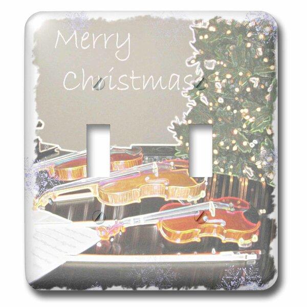 3drose Christmas Tree And Violin Snowflake Art 2 Gang Toggle Light Switch Wall Plate Wayfair