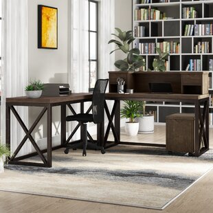 Witham 3 Piece L-Shaped Desk Office Suite by Williston Forge Design