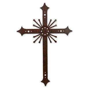 Message Of Light Religious Iron Cross Wall Décor