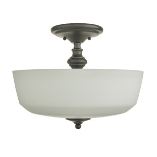 Price comparison Sherrard 2-Light Semi-Flush Mount By Charlton Home