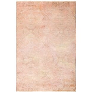 Check Prices One-of-a-Kind Stewart Hand Knotted Wool Pink Area Rug By Isabelline