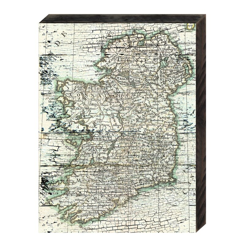 Map Of Ireland Rustic Wooden Wall Decor