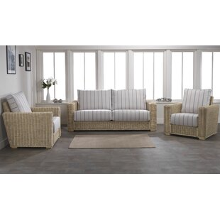 Great Deals Dizon 3 Piece Conservatory Sofa Set