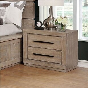 Leandra 2 Drawer Nightstand