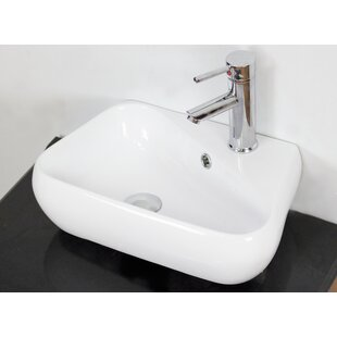 Reviews Ceramic Specialty Vessel Bathroom Sink with Overflow By American Imaginations