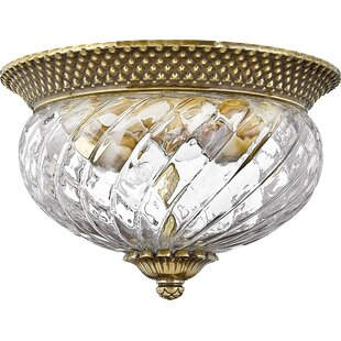 Beachcrest Home Terry 2-Light Flush Mount