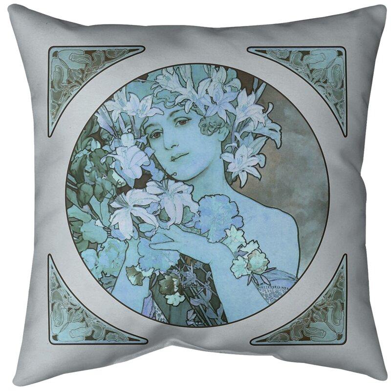 East Urban Home Alphonse Mucha Crown Of Flowers Throw Pillow Insert Wayfair