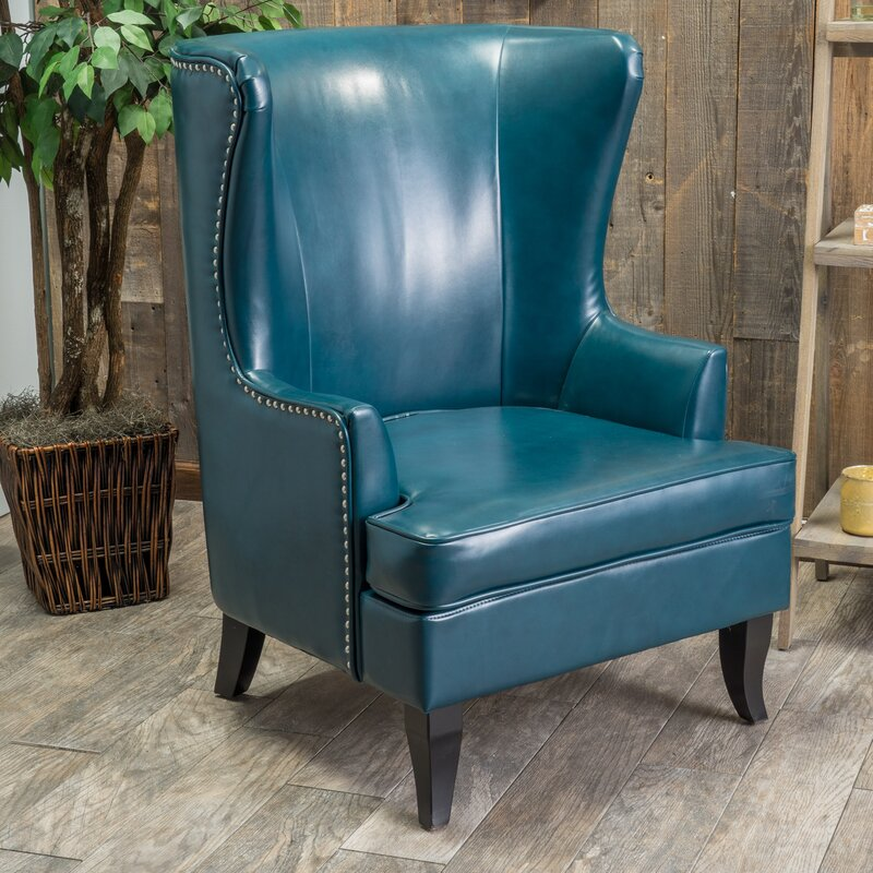roundtree high wingback chair & reviews | birch lane