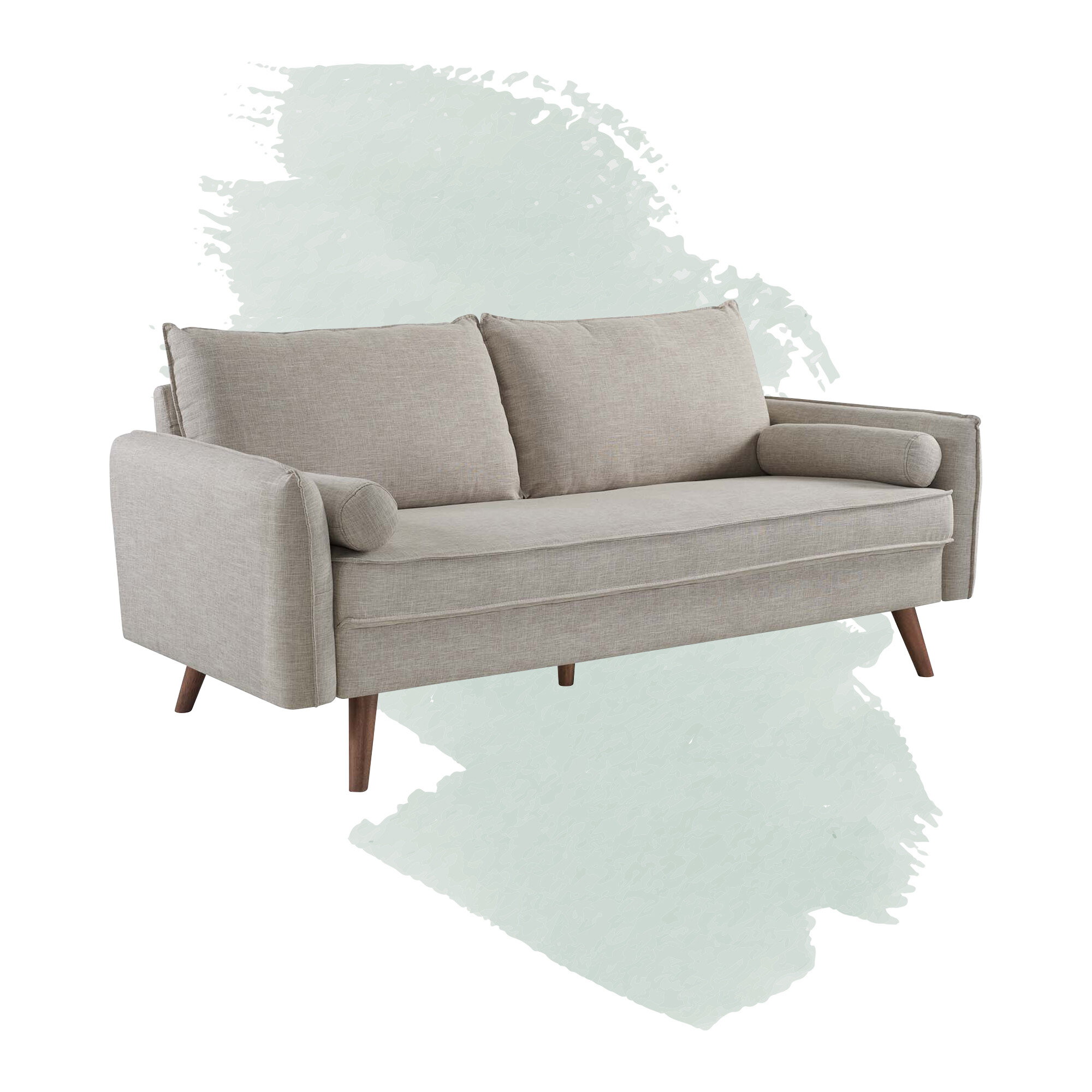 Foundstone Anton 70 Round Arm Sofa