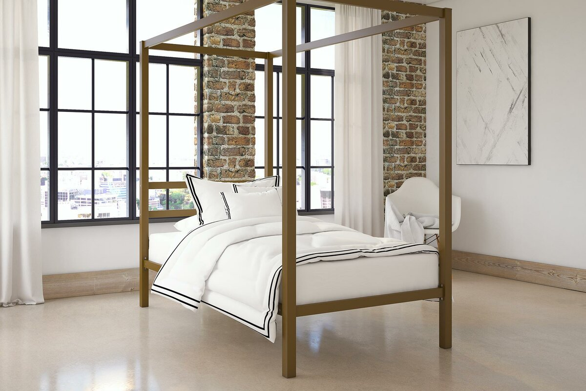 Canopy Bed mercer41™ stanley canopy bed & reviews | wayfair
