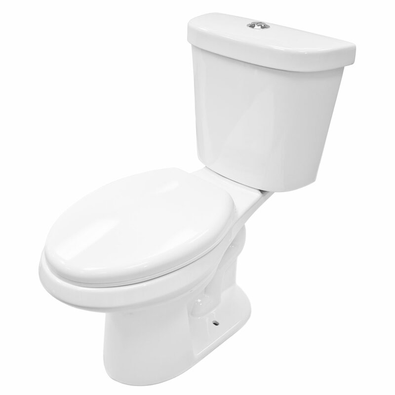 Lesscare Dual Flush Elongated Two Piece Toilet Seat Included