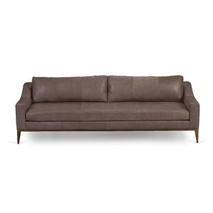Buy luxury Corringham Leather Sofa by Foundry Select Reviews (2019) & Buyer's Guide