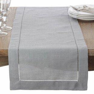 Charmant Silver Beaded Table Runner | Wayfair