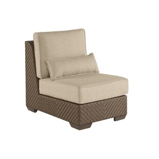 Astrid Wicker Patio Chair with Cushion by Gracie Oaks