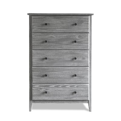 Greenport 5 Drawer Chest Grain Wood Furniture Color: Brushed Gray