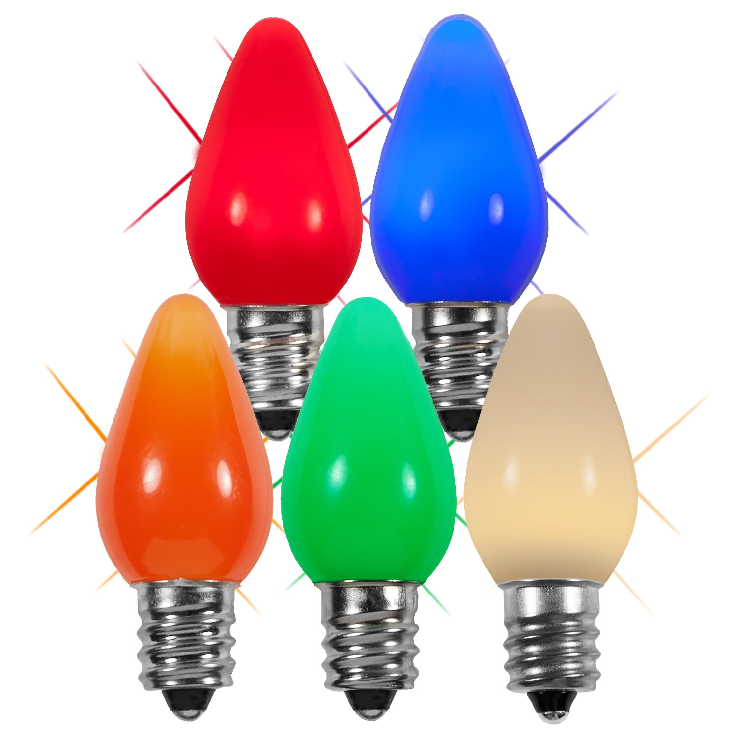 Twinkle Smooth Led Christmas Light Bulb