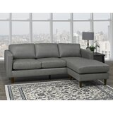 Boettcher Right Hand Facing Leather Sectional by Corrigan Studio®
