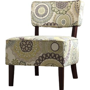 Curry Floral Side Chair by Ebern Designs