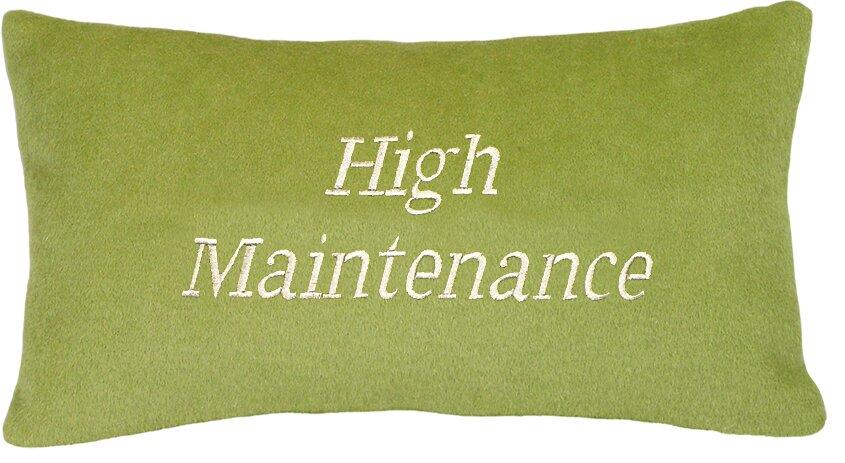 High Maintenance Wool Lumbar Pillow