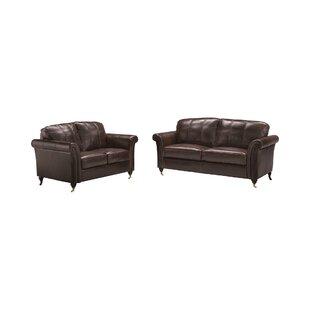 Nightsbridge 2 Piece Leather Sofa Set By Rosalind Wheeler