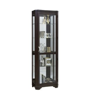 Rockford Lighted Curio Cabinet by Three Posts