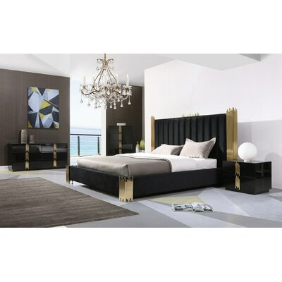 Sandvos Platform 5 Piece Bedroom Set Everly Quinn Bed Size: Queen Bedroom Set