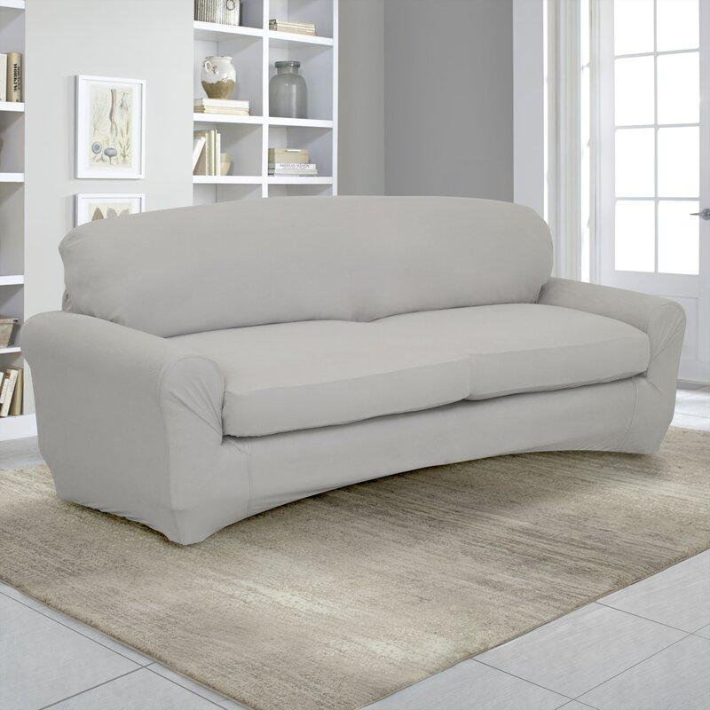 Stretch Fit Box Cushion Sofa Slipcover