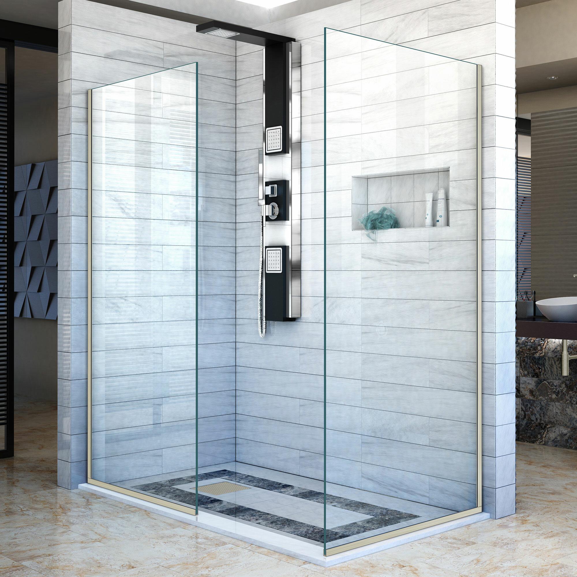 Linea 34 X 72 Semi Frameless Shower Door With Clearmax Technology