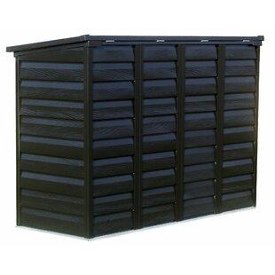 Arrow Versa Shed Locking 6 ft. W x 3 ft. D Metal Horizontal Garbage Shed