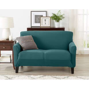Super Soft Jersey Knit Box Cushion Loveseat Slipcover