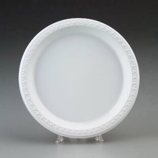 Round Plastic Plates in White By Chinet
