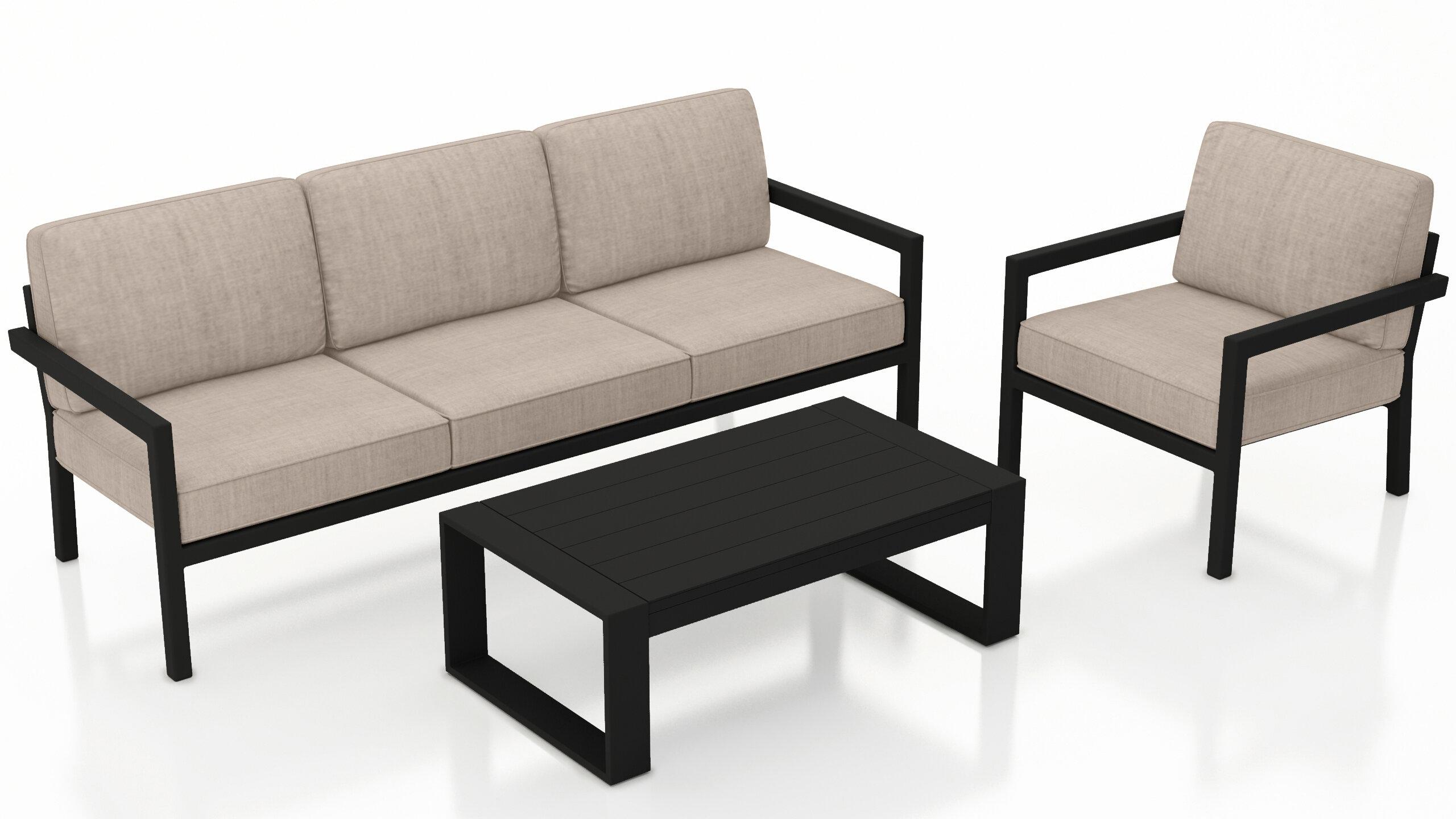 Fabulous Iliana 3 Piece Sofa With Sunbrella Cushions Andrewgaddart Wooden Chair Designs For Living Room Andrewgaddartcom