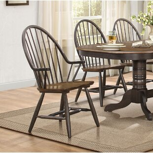 Estefania Dining Chair with Arms (Set of 2) Gracie Oaks