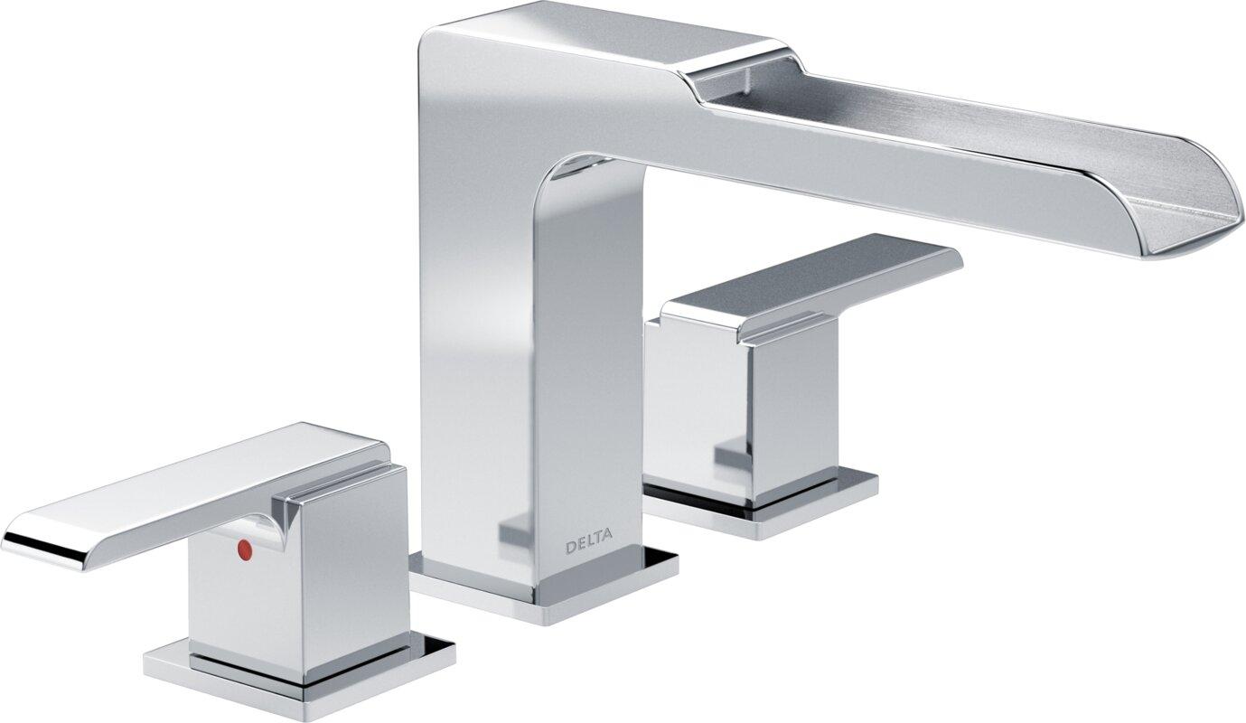 ara roman two handle deck mount tub filler trim with channel spout