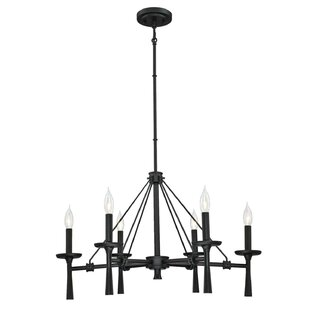Gracie Oaks Burtundy Indoor 6-Light Chand..