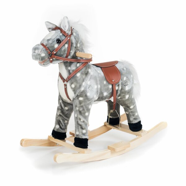 Children Wooden Small Rocking Horse Balance Toys Room Decor Crafts one