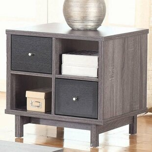 Buendia Contemporary 2 Drawer End Table with Storage by George Oliver
