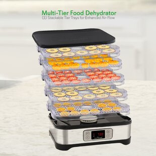 SereneLife 5 Tray Compact Digital Food Dehydrator