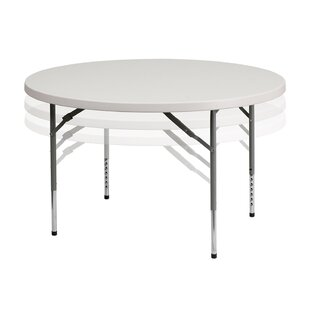Plastic Adjustable Circular Folding Table