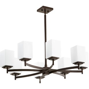 Wade Logan Hobart 8-Light Shaded Chandelier