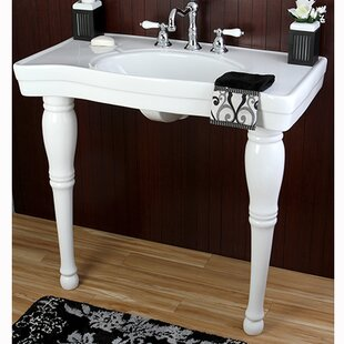 Imperial Ceramic 35.75 Console Bathroom Sink with Overflow ByKingston Brass