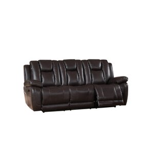 Mickey Reclining 2 Piece Leather Living Room Set