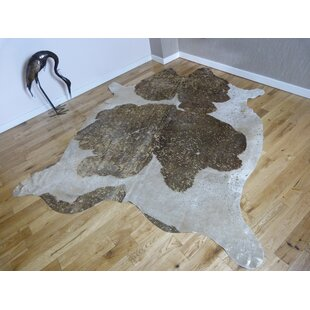 Birch Cowhide Brown/White Rug by Brick & Barrow