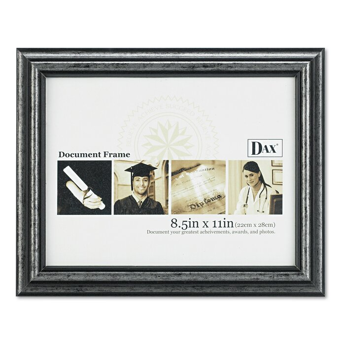 Various Size Sets DAX 8.5 x 11 in Grey Antique Charcoal Document Frame